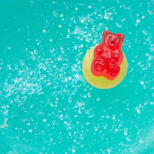 Gummy Summer - Made with gummy bears, lifesavers, and gelatine